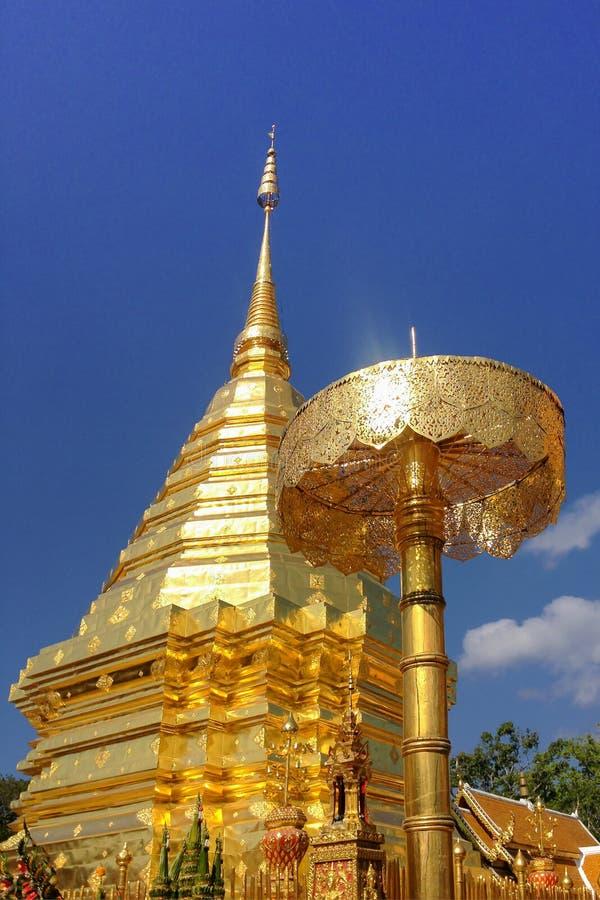 Wat Phra dhat Doi su thep ,Chiangmai royalty free stock photo