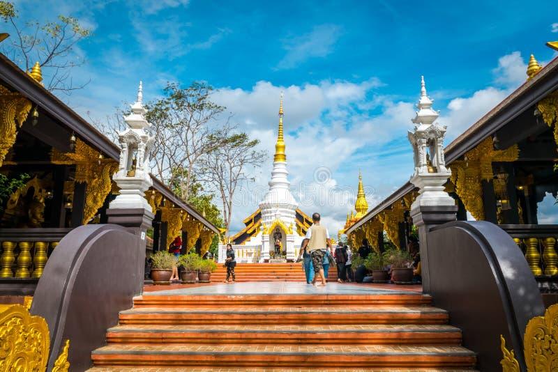 Wat Phra That Doi Phra Chan, tempel i Lampang Thailand arkivbild