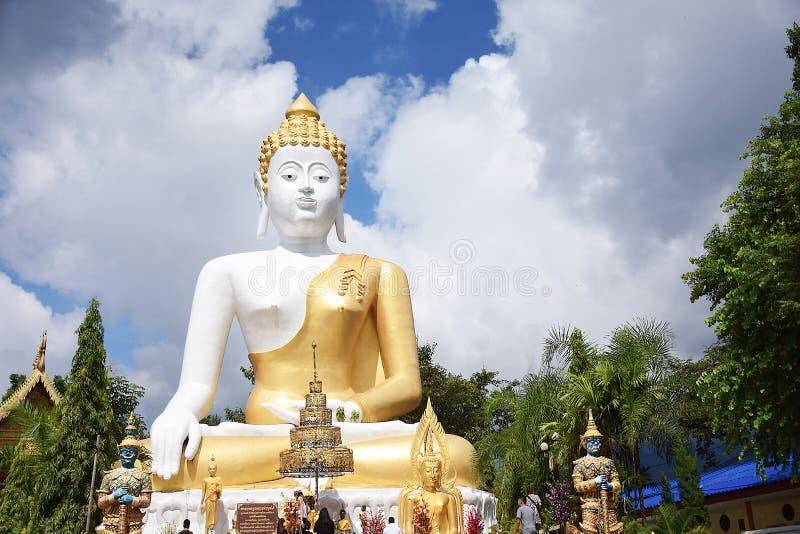 Wat Phra That Doi Kham in Chiangmai, Noordelijk van Thailand stock afbeeldingen
