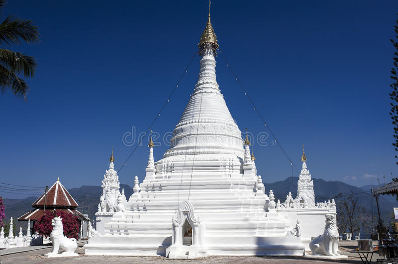 Wat Phra That Doi Kong Moo, Mae Hong Son, Thailand.  royalty free stock photography