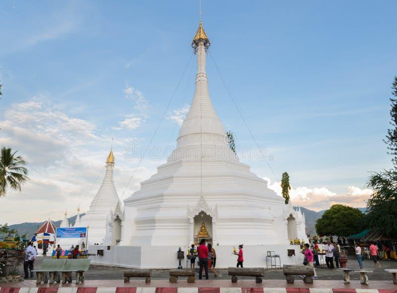 Wat Phra That Doi Kong MU in Mae Hong Son, Thailand lizenzfreies stockbild