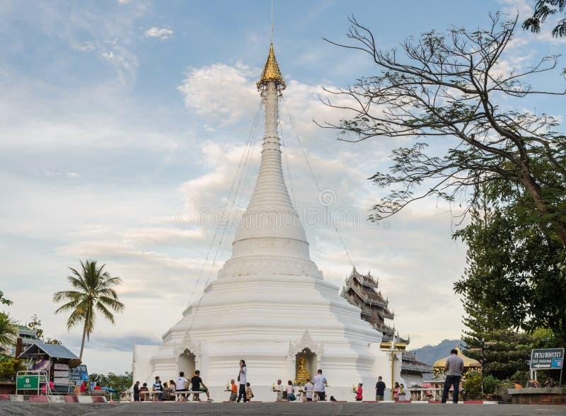 Wat Phra That Doi Kong MU in Mae Hong Son, Thailand stockbild