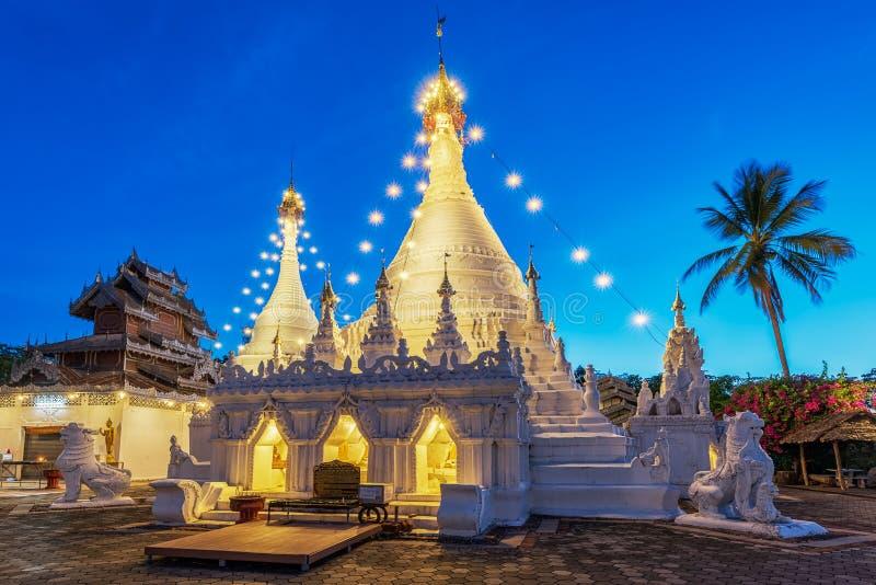 Wat Phra that Doi Kong Mu Mae Hong Son, Thailand stockfotografie