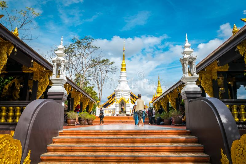 Wat Phra That Doi Phra Chan, Temple in Lampang Thailand. stock photography