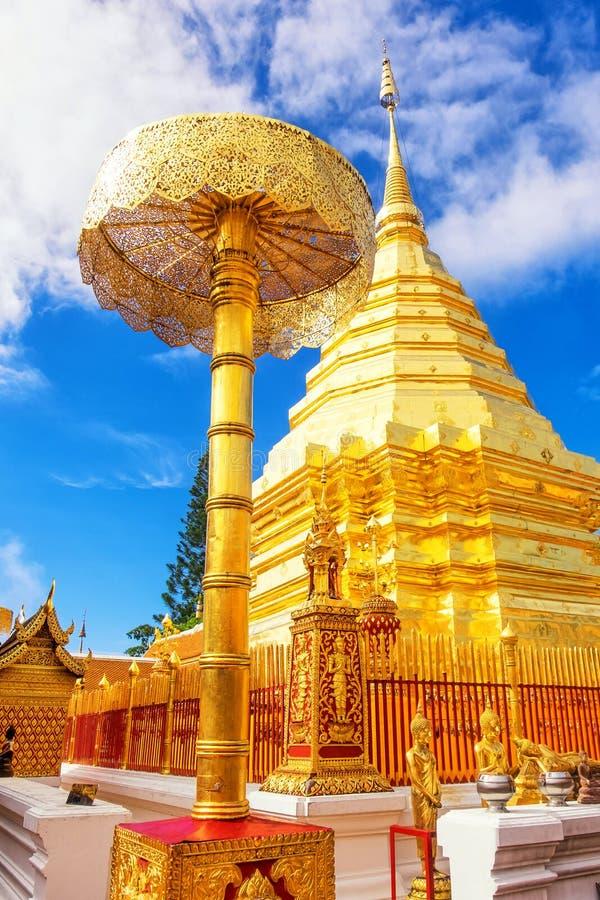 Wat Phra That Doi Suthep é o templo o mais famoso em Chiang Mai fotos de stock