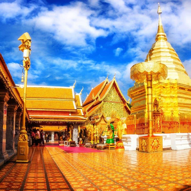 Wat Phra That Doi Suthep é o templo o mais famoso em Chiang Mai foto de stock royalty free