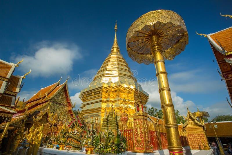 Wat Phra That Doi Suthep lizenzfreie stockfotos