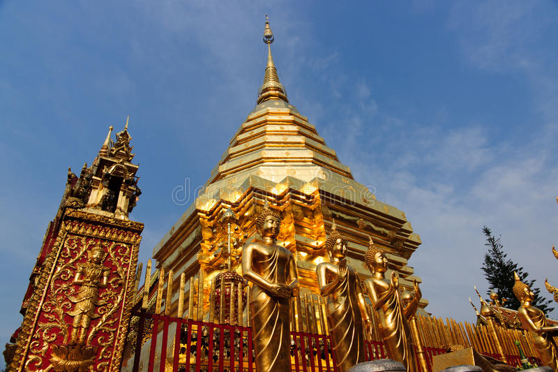 Wat Phra That Doi Suthep, Chiang Mai, Tailandia fotografia stock