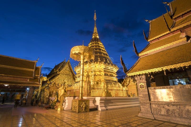 Wat Phra That Doi Suthep in Chiang Mai, Thailand stockbild