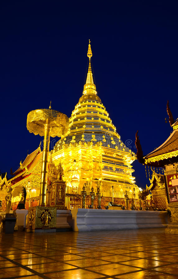 Wat Phra That Doi Suthep, Chiang Mai, Thailand. Temple with a long history of Northern Thailand stock photos