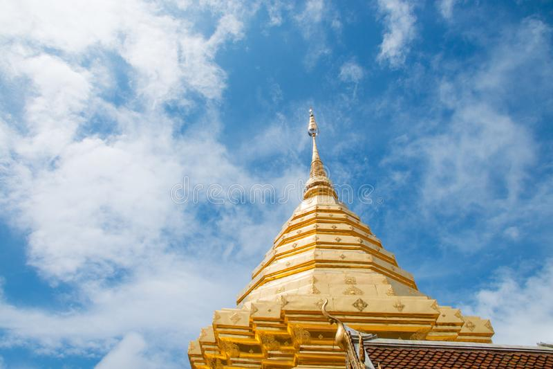 Wat Phra That Doi Suthep at Chiang Mai, Thailand royalty free stock photos
