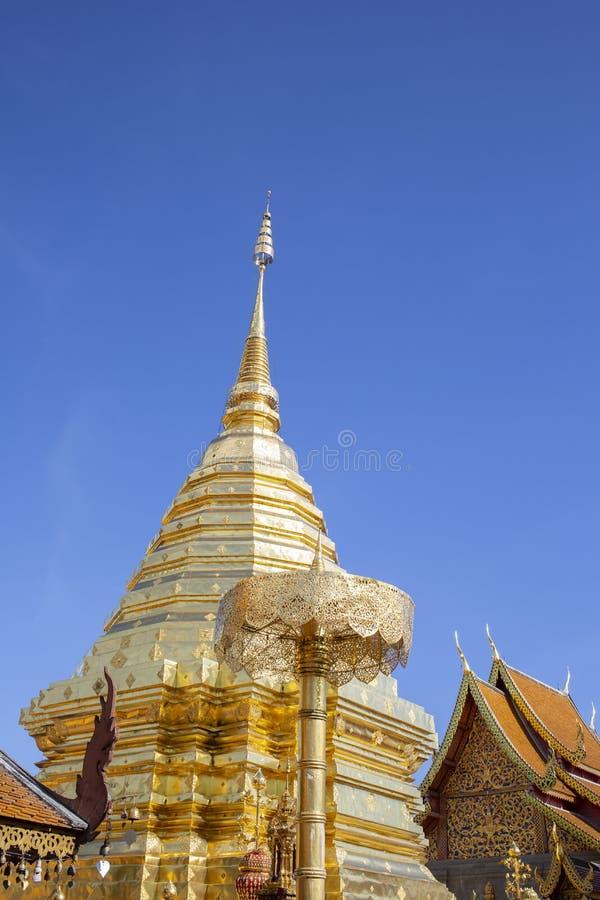 Wat Phra That Doi Suthep is een Boeddhistische tempel van Theravada in Chiang Mai Province, Thailand reis Azi? royalty-vrije stock afbeeldingen
