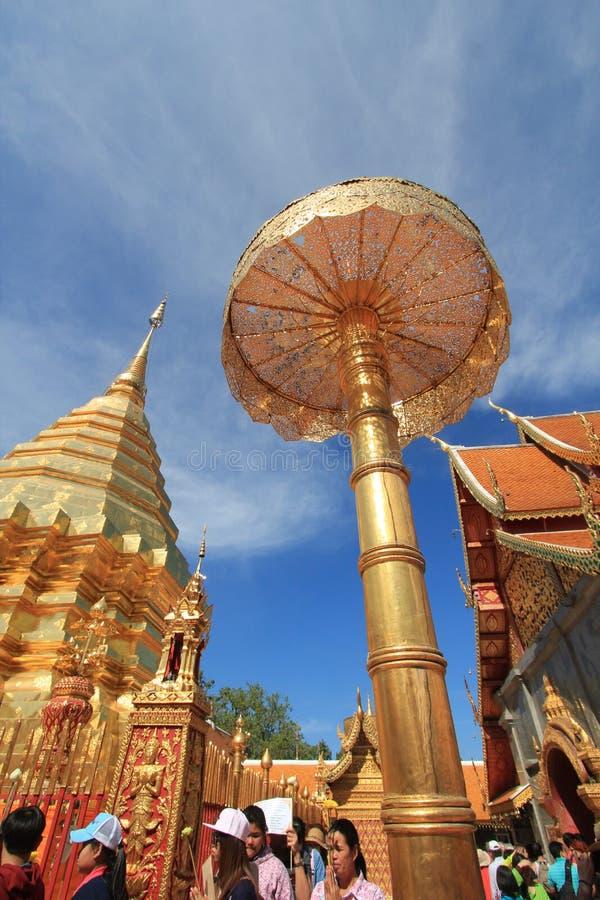 Wat Phra That Doi Suthep em Chiang Mai imagens de stock royalty free
