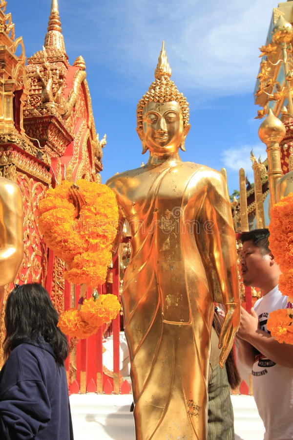 Wat Phra That Doi Suthep em Chiang Mai imagens de stock