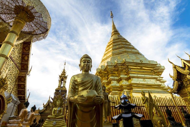 Wat Phra That Doi Suthep en Chiang Mai, Tailandia imagen de archivo