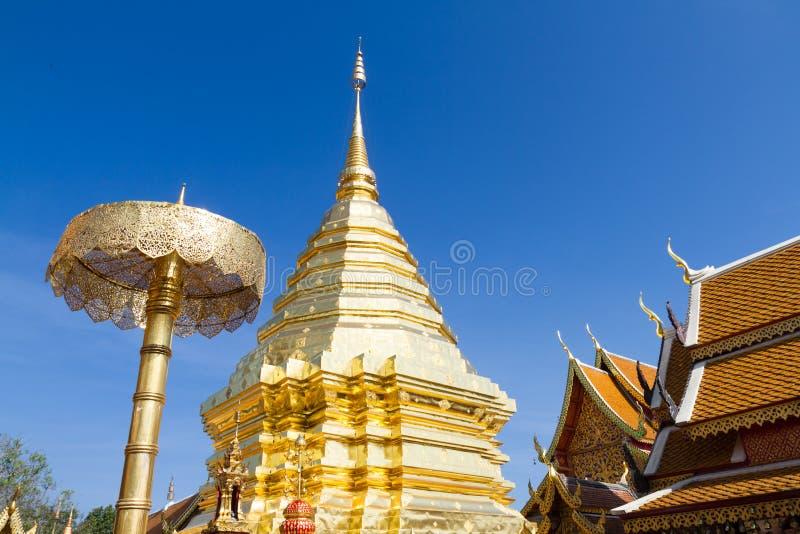 Wat Phra That Doi Suthep en chiangmai foto de archivo