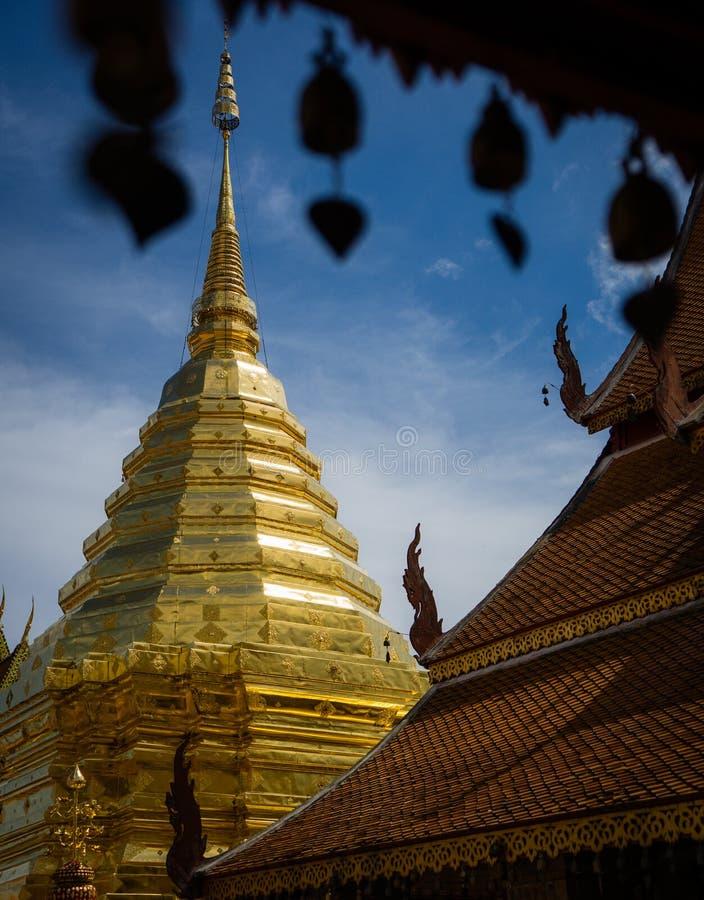 Wat Phra That Doi Suthep ist ein buddhistischer Tempel Theravada an schönem nahe Chiang Mai, Thailand stockfotos