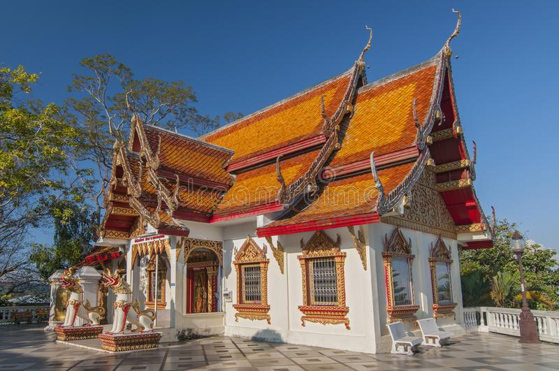 Wat Phra That Doi Suthep mountain temple, museum in small viharn, Chiang Mai, Thailand stock images