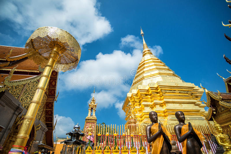 Wat Phra That Doi Suthep, populärer Tempel in Chiang Mai, Thailand lizenzfreie stockfotos
