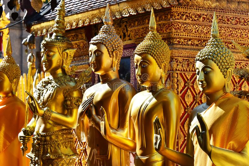 Wat Phra That Doi Suthep-tempel in Chiang Mai Province, Thailand royalty-vrije stock foto's
