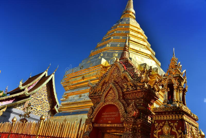 Wat Phra That Doi Suthep temple in Chiang Mai Province, Thailand stock image