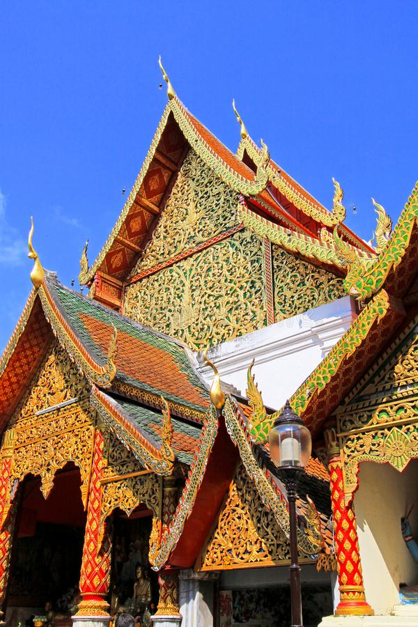 Roof Decoration At Wat Phra That Doi Suthep, Chiang Mai, Thailand stock photos
