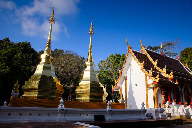 Wat Phra That Doi Tung, Tailândia imagem de stock