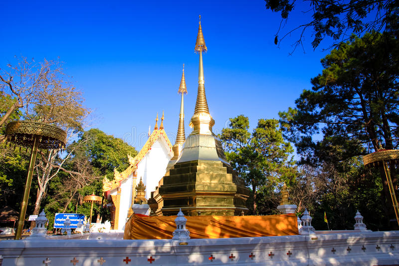 Wat Phra That Doi Tung, Tailândia imagens de stock
