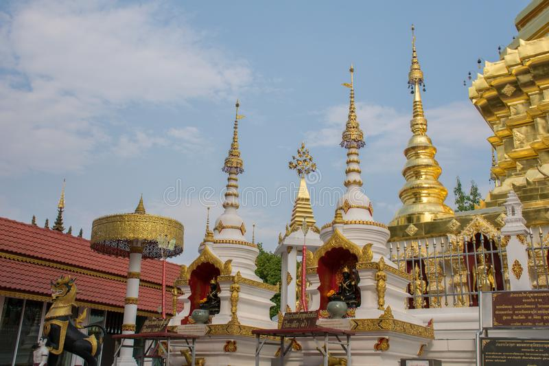 Wat Phra That Doi Wiang Chai Mongkol royalty-vrije stock fotografie