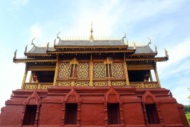 Wat Phra That Hariphunchai in Lamphun Thailand.  stock photos