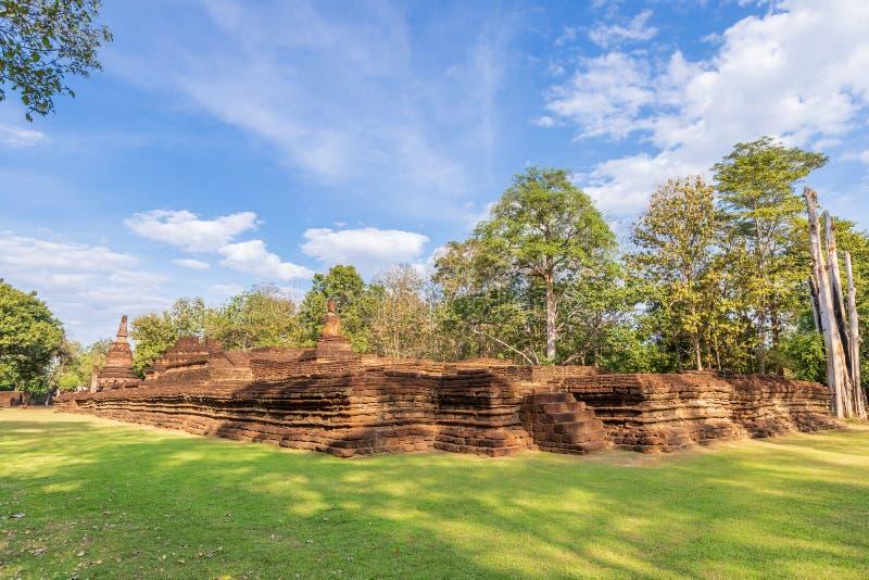 Wat Phra Kaeo寺庙在甘烹碧府历史公园,联合国科教文组织世界遗产名录站点 库存图片