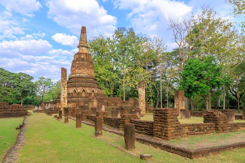 Wat Phra Kaeo寺庙在甘烹碧府历史公园,联合国科教文组织世界遗产名录站点 图库摄影