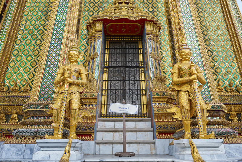Wat Phra Kaeo στο μεγάλο παλάτι στη Μπανγκόκ στοκ εικόνα με δικαίωμα ελεύθερης χρήσης