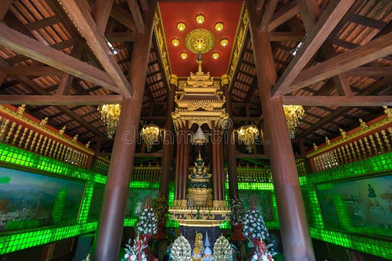 Wat Phra Kaeo - Chiang Rai, Thailand royaltyfri bild