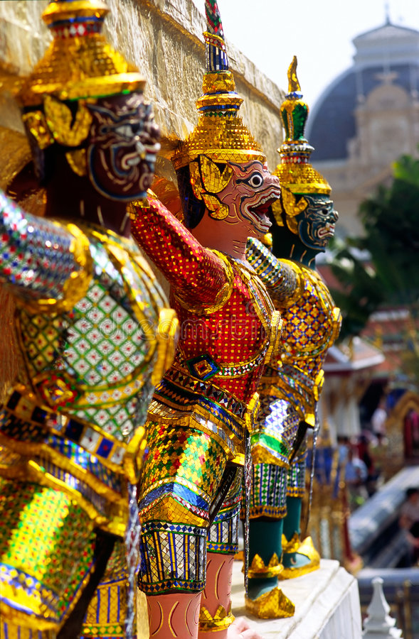 Free Wat Phra Kaeo Temple, Bangkok, Thailand. Royalty Free Stock Images - 6676169