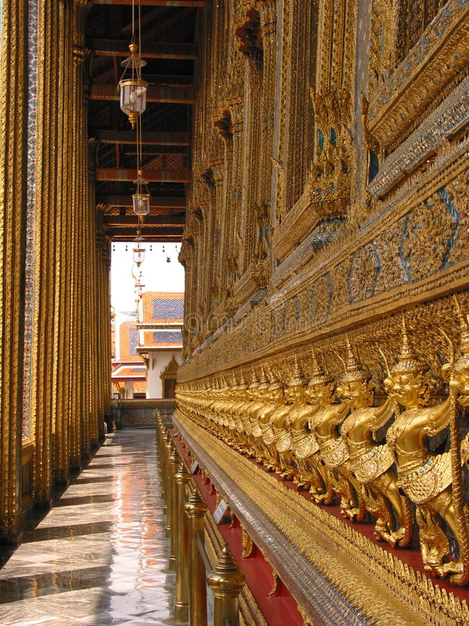 Wat Phra Kaew, Bangkok royalty-vrije stock foto