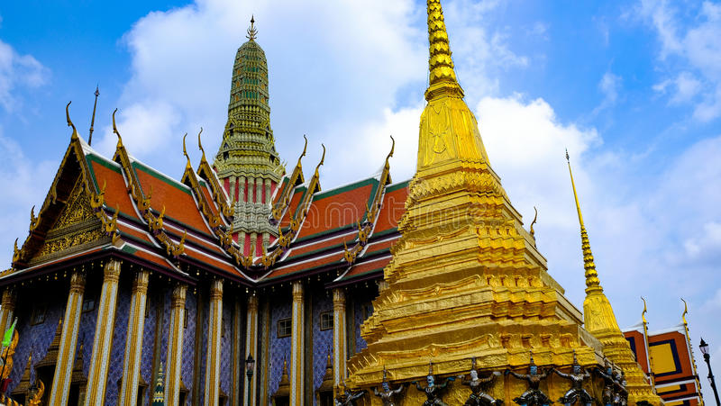 Wat Phra Kaew, Bangkok, Tailandia fotografie stock