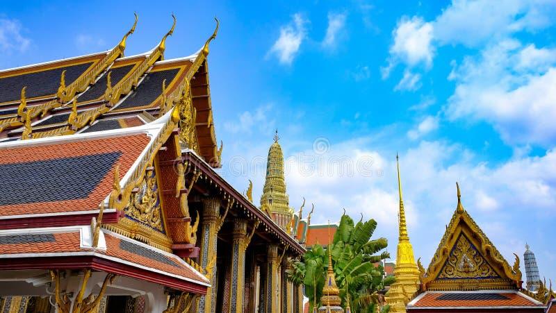 Wat Phra Kaew, Bangkok, Tailandia immagini stock libere da diritti