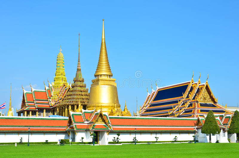 Wat Phra Kaew, Bangkok , Thailand. Temple is the important measure of the nation of Thailand stock photography