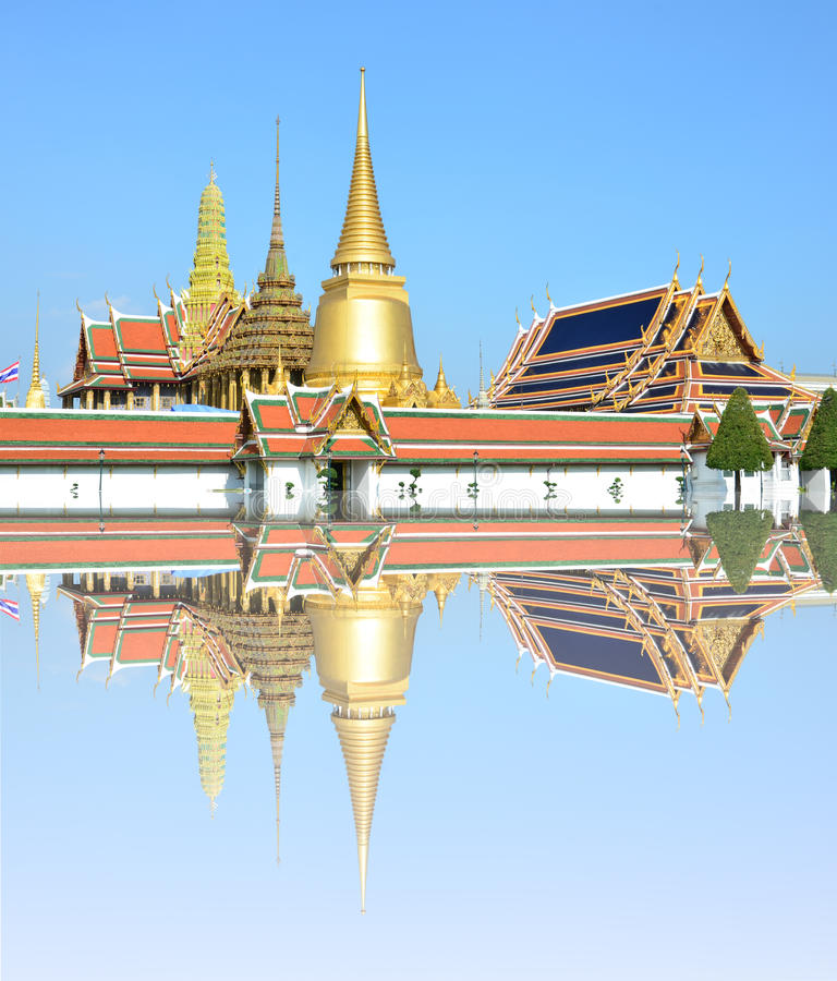 Wat Phra Kaew, Bangkok , Thailand. Buddhist temples are located in the Grand Palace royalty free stock photo