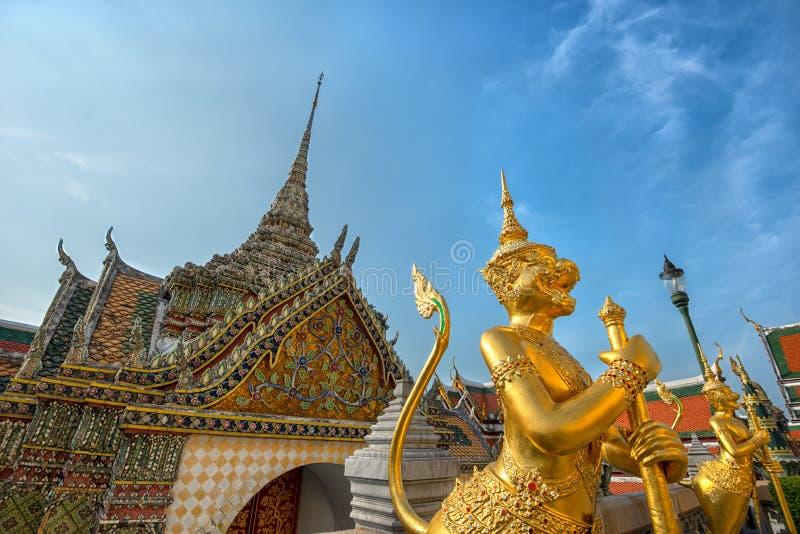 Wat Phra Kaew-de tempelbouw in Bangkok royalty-vrije stock afbeelding
