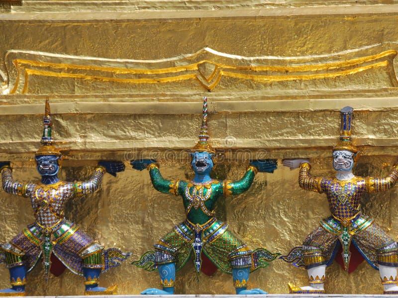 Wat Phra Kaew em Banguecoque ou no templo de Emerald Buddha fotografia de stock