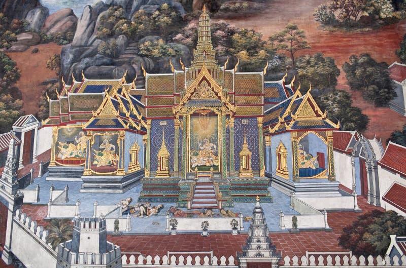 Wat Phra Kaew en Bangkok, Tailandia fotografía de archivo