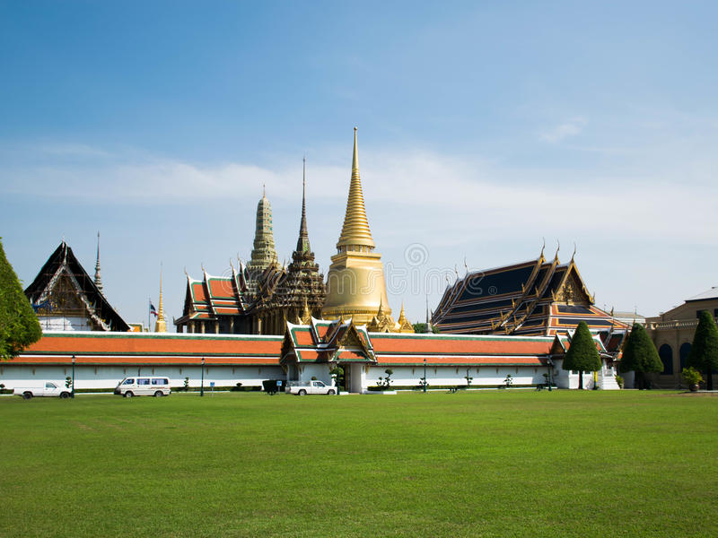 Wat Phra Kaew Grand Palace Bangkok stockfotos