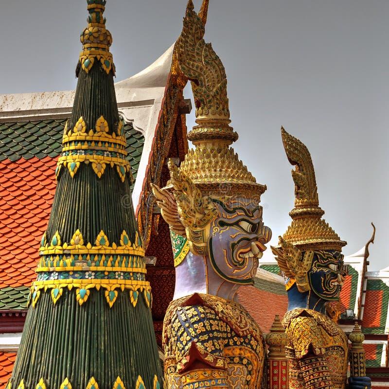 WAT PHRA KAEW - GRANDE PALACIO BANGKOK TAILANDIA fotografía de archivo