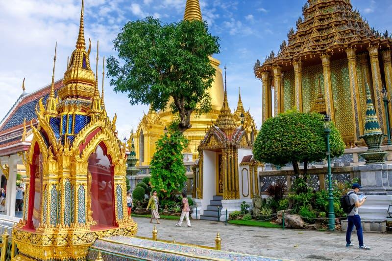 Wat Phra Kaew, il tempio più famoso e punto di riferimento della Tailandia fotografia stock