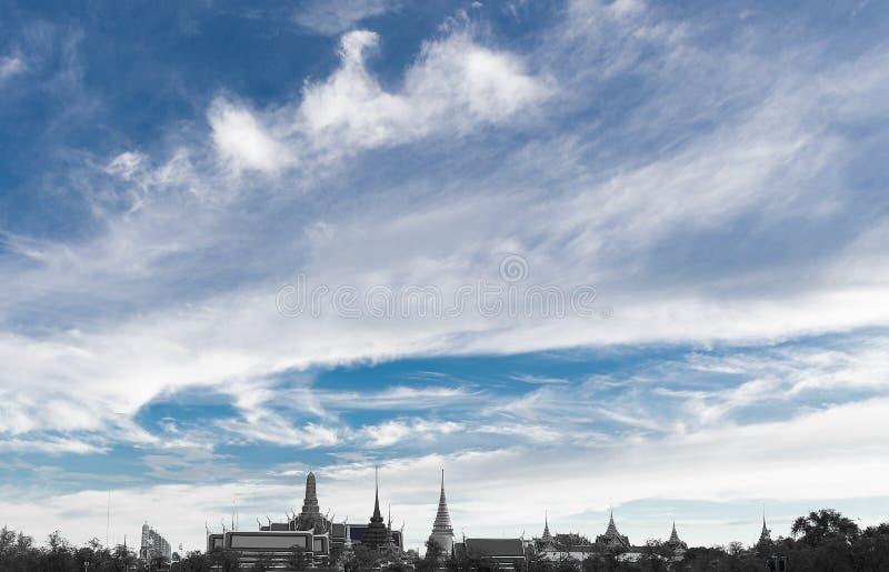 Wat Phra Kaew landfläck av Bangkok, Thailand royaltyfria bilder