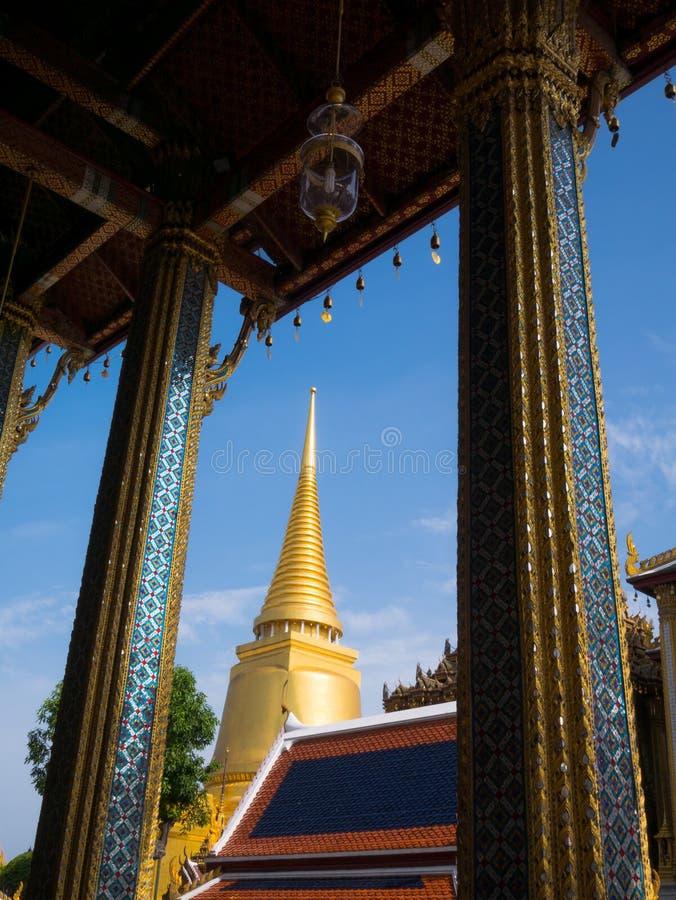 Wat Phra Kaew (le palais grand) de la Thaïlande images libres de droits