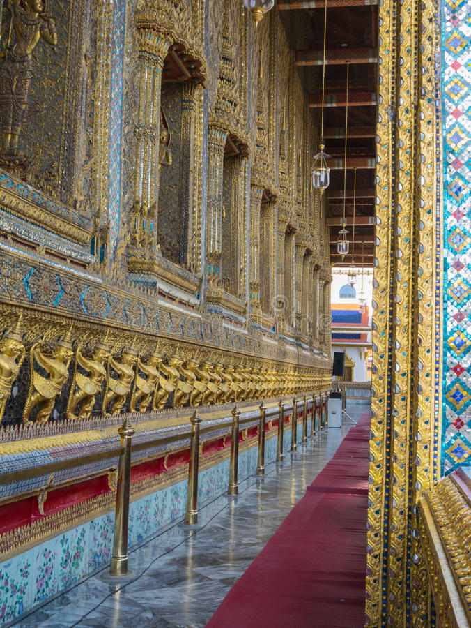 Wat Phra Kaew (le palais grand) de la Thaïlande photo stock