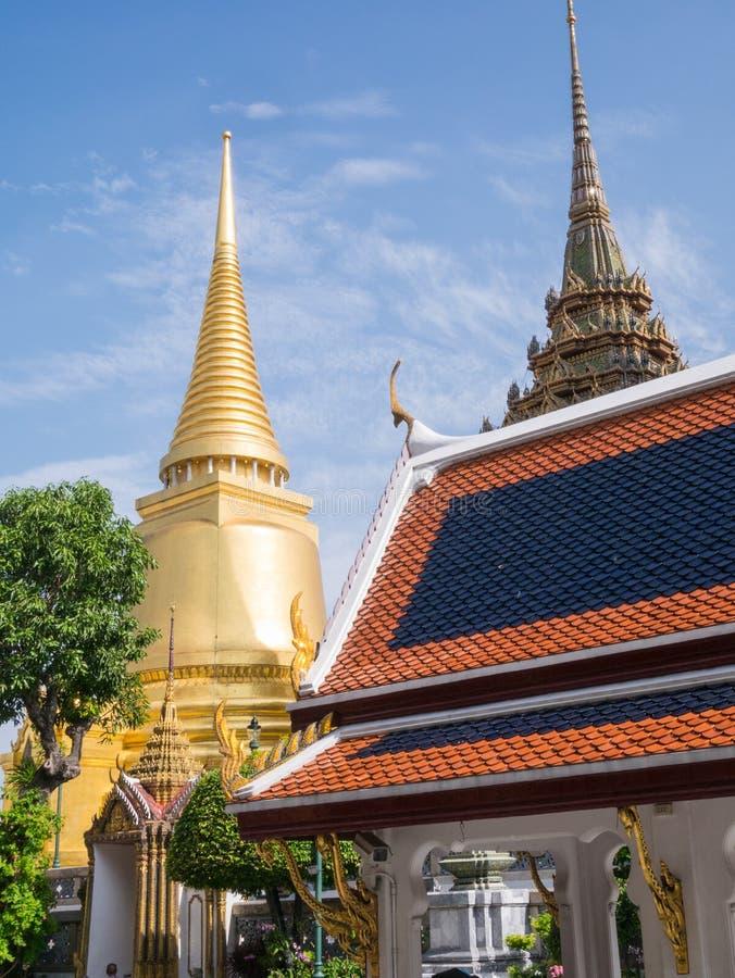 Wat Phra Kaew (le palais grand) de la Thaïlande images stock